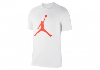 NIKE AIR JORDAN JUMPMAN TEE WHITE INFRARED