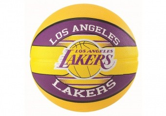 SPALDING NBA TEAM L.A LAKERS SIZE 5 YELLOW