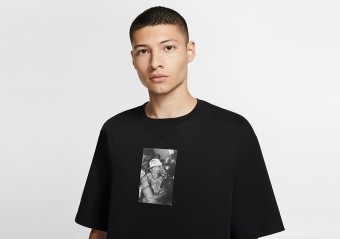 NIKE AIR JORDAN RIVALS CREW TEE BLACK