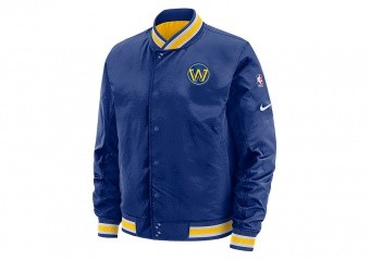 NIKE NBA GOLDEN STATE WARRIORS COURTSIDE JACKET RUSH BLUE