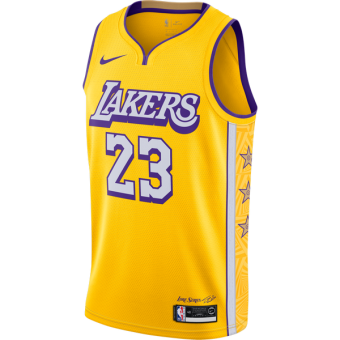 NIKE  NBA LEBRON JAMES LAKERS CITY EDITION TOP
