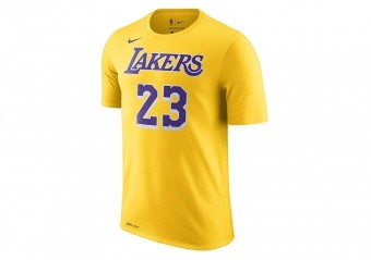 NIKE NBA LOS ANGELES LAKERS LEBRON JAMES DRY TEE AMARILLO