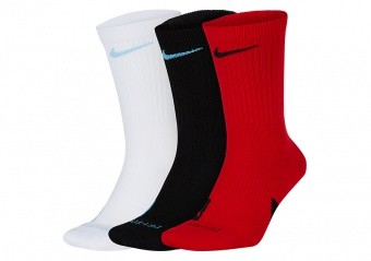 NIKE ELITE CREW 3PACK SOCKS MULTI-COLOR