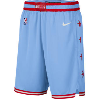 NIKE NBA CHICAGO BULLS CITY EDITION SWINGMAN SHORTS VALOR BLUE