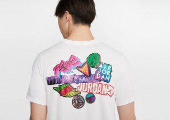 NIKE AIR JORDAN BRAND STICKER TEE WHITE