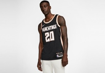 NIKE NBA ATLANTA HAWKS JOHN COLLINS CITY EDITION SWINGMAN JERSEY BLACK