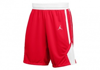 NIKE AIR JORDAN STOCK BASKETBALL SHORTS TEAM SCARLET