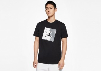 NIKE AIR JORDAN POOLSIDE CREW TEE BLACK
