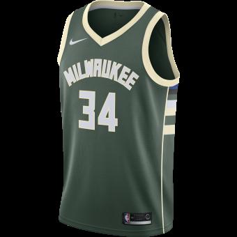 NIKE NBA MILWAUKEE BUCKS GIANNIS ANTETOKOUNMPO SWINGMAN JERSEY ROAD