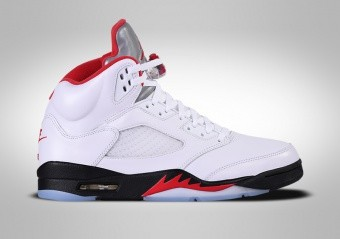 NIKE AIR JORDAN 5 RETRO FIRE RED SILVER TONQUE