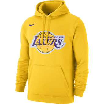 NIKE NBA LOS ANGELES LAKERS LOGO FLEECE HOODIE