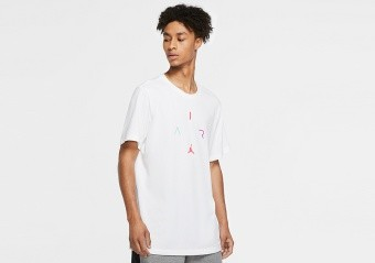 NIKE AIR JORDAN 'AIR' DRI-FIT TEE WHITE