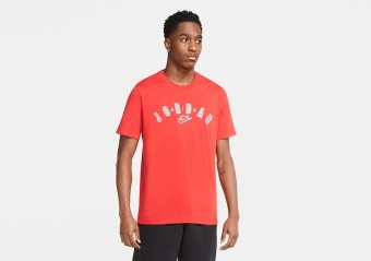 NIKE AIR JORDAN LEGACY 1 JUMPMAN TEE UNIVERSITY RED