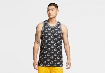 NIKE GIANNIS SLEEVELESS PRINTED TOP BLACK