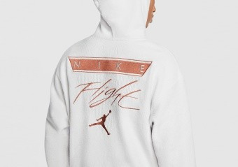 NIKE AIR JORDAN FLIGHT PULLOVER HOODIE PLATINUM TINT