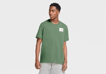 NIKE AIR JORDAN FLIGHT ESSENTIALS CREW TEE SPIRAL SAGE