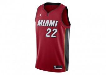 NIKE NBA MIAMI HEAT JIMMY BUTLER STATEMENT EDITION SWINGMAN JERSEY TOUGH RED