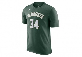 NIKE NBA MILWAUKEE BUCKS GIANNIS ANTETOKOUNMPO TEE FIR