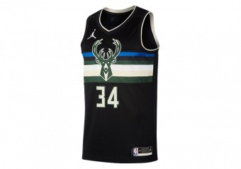NIKE NBA MILWAUKEE BUCKS GIANNIS ANTETOKOUNMPO STATEMENT EDITION SWINGMAN JERSEY BLACK