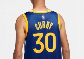 NIKE NBA GOLDEN STATE WARRIORS STEPHEN CURRY ICON EDITION SWINGMAN JERSEY RUSH BLUE