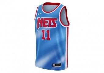 NIKE NBA BROOKLYN NETS KYRIE IRVING CLASSIC EDITION SWINGMAN JERSEY PACIFIC BLUE