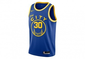 NIKE NBA GOLDEN STATE WARRIORS STEPHEN CURRY CLASSIC EDITION SWINGMAN JERSEY RUSH BLUE