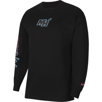 NIKE NBA MIAMI HEAT COURTSIDE CITY EDITION LONG-SLEEVE TEE