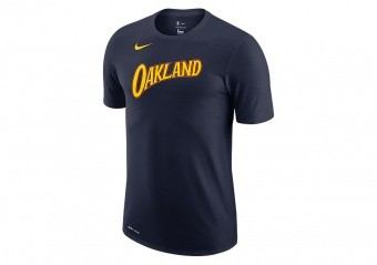 NIKE NBA GOLDEN STATE WARRIORS CITY EDITION LOGO DRI-FIT TEE COLLEGE NAVY