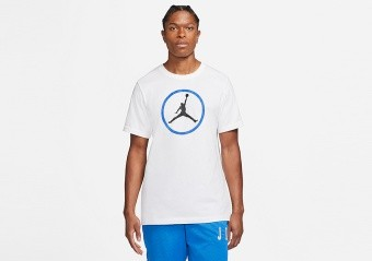 NIKE AIR JORDAN SPORT DNA HBR CREW TEE WHITE