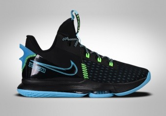 NIKE LEBRON WITNESS V BLACK LIGHT BLUE FURY
