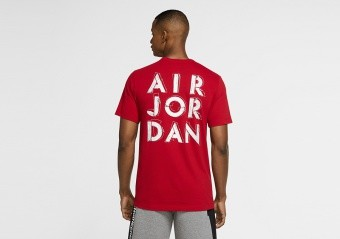NIKE AIR JORDAN DRI-FIT AIR GRAPHIC CREW TEE GYM RED