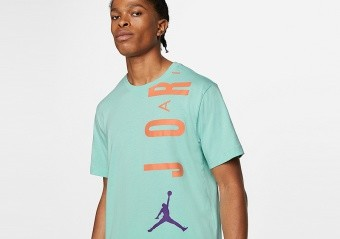 NIKE AIR JORDAN STRETCH CREW TEE LIGHT DEW
