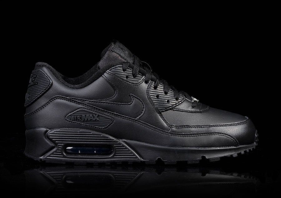 NIKE AIR MAX 90 LEATHER INTENSE BLACK